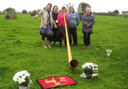Godmother - goddaughter ceremony, Stanton Drew stone circle, Cheddar, Somerset