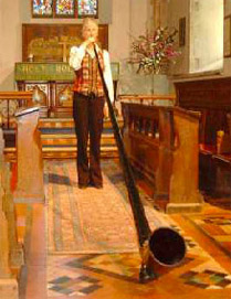 Amazing Alphorn in church