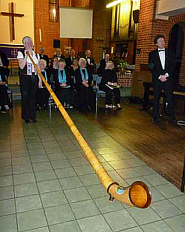 Alphorn with Reading Concert Singers, Reading, Berkshire