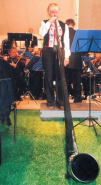 Alphorn with Henley Symphony Orchestra, Shiplake, Oxfordshire
