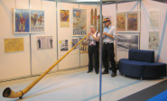 Alphorn at the National Ski Show, National Exhibition Centre, Birmingham