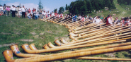 International Alphorn Festival, Nendaz, Canton Valais, Switzerland